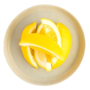 fresh sliced lemon wedges