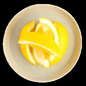 fresh sliced lemon wedges